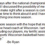 Statement from Bo Ryan on his plans to retire: http://t.co/G3fc1der2N