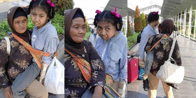 Meski Renta Nenek Ini Mampu Gendong Cucunya Dari Bogor Ke RSCM - AnekaNews.net