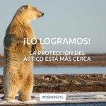 Gracias a todos. Ahora hay que seguir trabajando para conseguir que se proteja el 100% del Ártico #Ospar2015