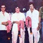 RT @smkoneru: What a lovely photo ..Legends of Telugu Film Industry.. NTR, ANR, Superstar Krishna and Rebel Star Krishnam Raju