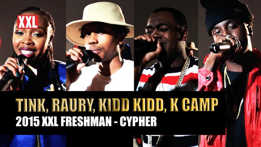 RT @thisis50: Watch: @XXL Freshmen 2015 Cypher - Part 1 - @ItsKiddKidd, Raury, Tink & K Camp  http://t.co/QkuJVHu53R http://t.co/u9a3KGietI