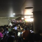 Red line at Chinatown (towards Glenmont) is dangerously overcrowded. #wmata @wmata http://t.co/h110F1qIID