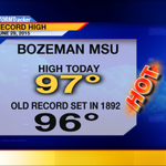 MSU Bozeman high of 97 today smashes a 123 year old record AND this is the NEW All Time Record High for June! http://t.co/hKfl4E3JdL
