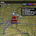 Golfball size hail possible through 8pm in the eastern metro. #kareweather More at 6pm. http://t.co/b9PAlKjATU