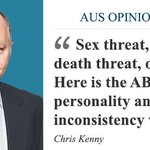 Opinion: ABC irresponsible allowing Mallah misogyny to trump death threat http://t.co/4uuY5fhahZ #qanda @chriskkenny http://t.co/KhuoX2F5sw