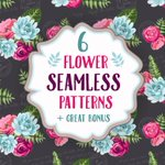 Free download (this Week Only): Set of 6 seamless flower patterns - @CreativeMarket http://t.co/CbLxttBag5 http://t.co/Wcx4ARZdgQ
