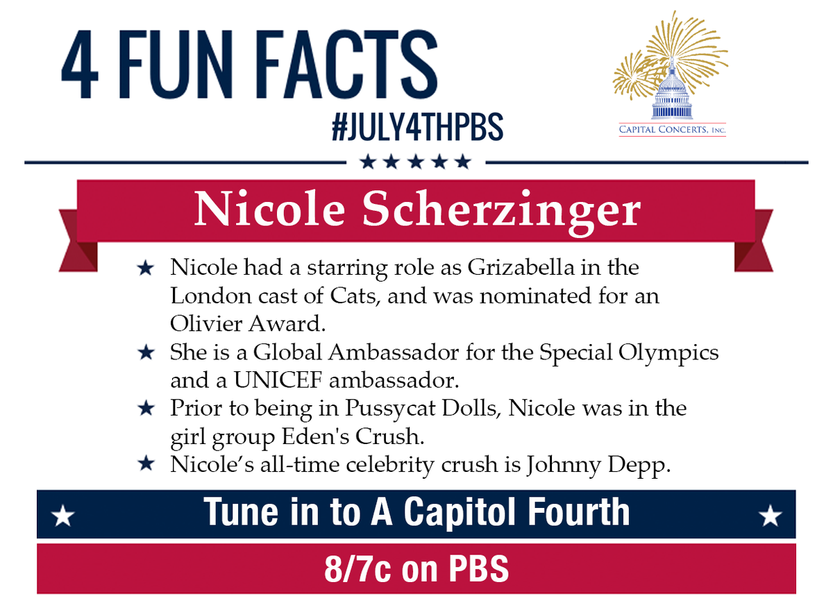 RT @July4thPBS: Find out @nicolescherzy 's all time crush, and make sure to tune in to her performance on #July4thPBS. #4funfacts http://t.…