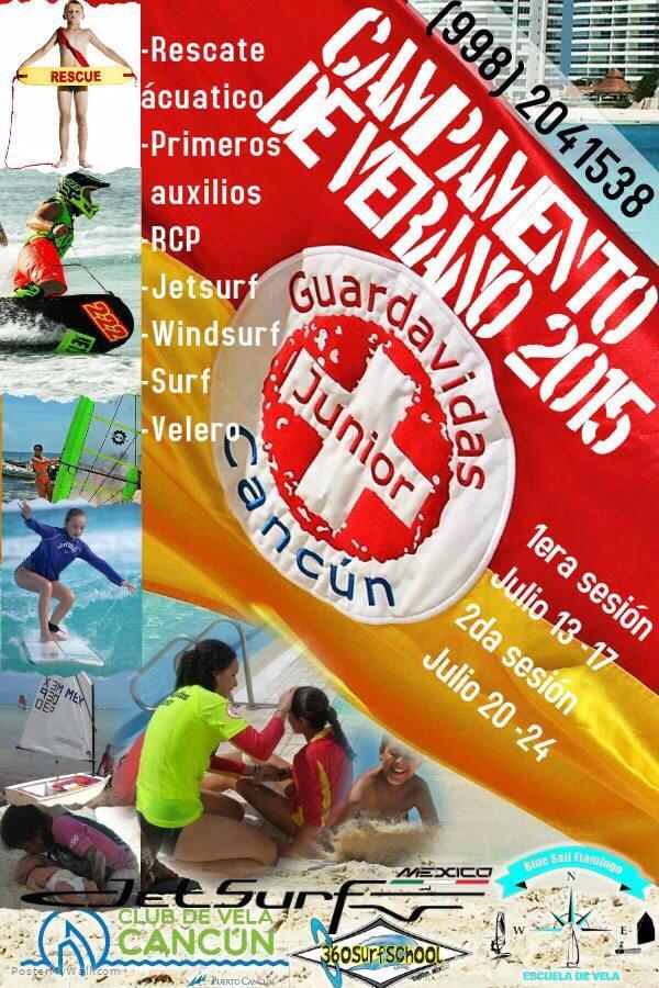 Curso de verano en Cancun, Guardavidas Junior. Mi hijo esta super emocionado! RT porfis! @VivoEnCancun http://t.co/XJcr78575l