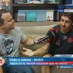 """#River """"Messi es el mejor jugador que he visto"""", la opinión de Pablo Aimar sobre la Pulga. http://t.co/Pb02kIcojL"""