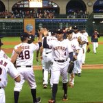 Handshakes and High Fives at #MMP! #Astros 6, Royals 1. #HTownPride #Whiff http://t.co/MjKyioMKk6