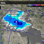 "Hail potentially up to 1.3"" moving into downtown Minneapolis right now. Take cover #kareweather http://t.co/IhFGOPjEgi"