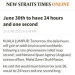 Hari ni kita ada extra satu saat. Apa yang akan kita buat dengan extra satu saat itu? http://t.co/WU84b5xGM3