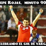 Ooeee, Avisenle al Pepe Rojas que se vaya a Camarines, recién está celebrando el Gol de Vargas http://t.co/cFvBYT3DjF