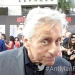 Live from the World Premiere of Marvels #AntMan with Michael Douglas! http://t.co/ShdsDmWIf5