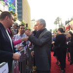 Michael Douglas looms large at the #AntMan premiere, blocking traffic in Hollywood right now. http://t.co/AJZICmaBat