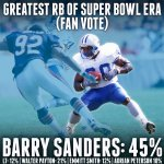 We asked... who is the #GreatestRunningBack of the Super Bowl era?  You answered... http://t.co/pYcNSkInVG
