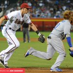 Justin Turner got caught too far off third base on Yasiel Puigs high chopper to end the #Dodgers third. http://t.co/AcIau2Rdev