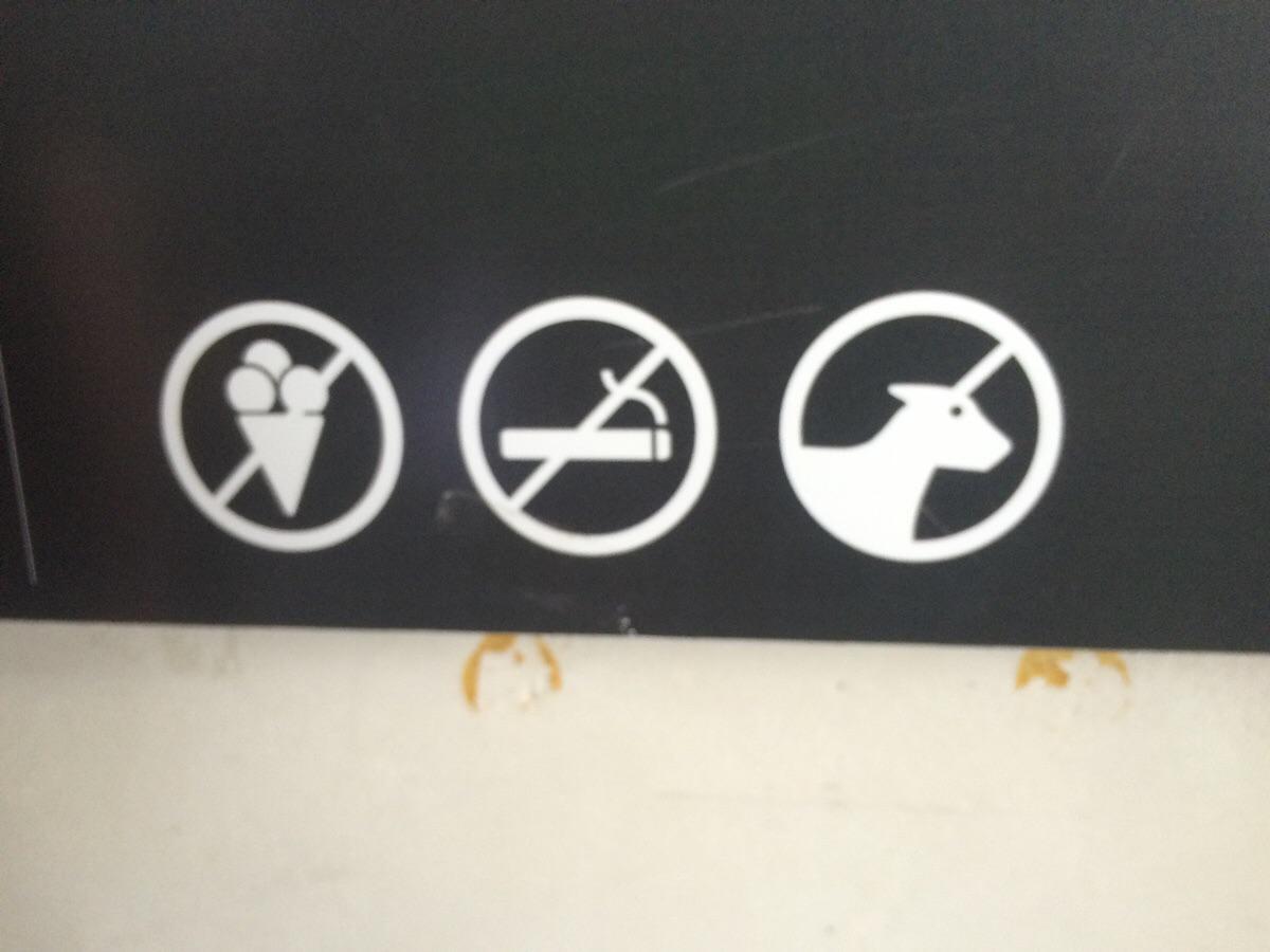 Non aux glaces. Non aux cigarettes. Mais OK pour les licornes. (Via @ThePoke)