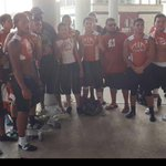 Mercedes 7on7 boys chillin with Vince Wilfork former Patriot and current Texan at todays tourney. http://t.co/mtkLShJ8oh