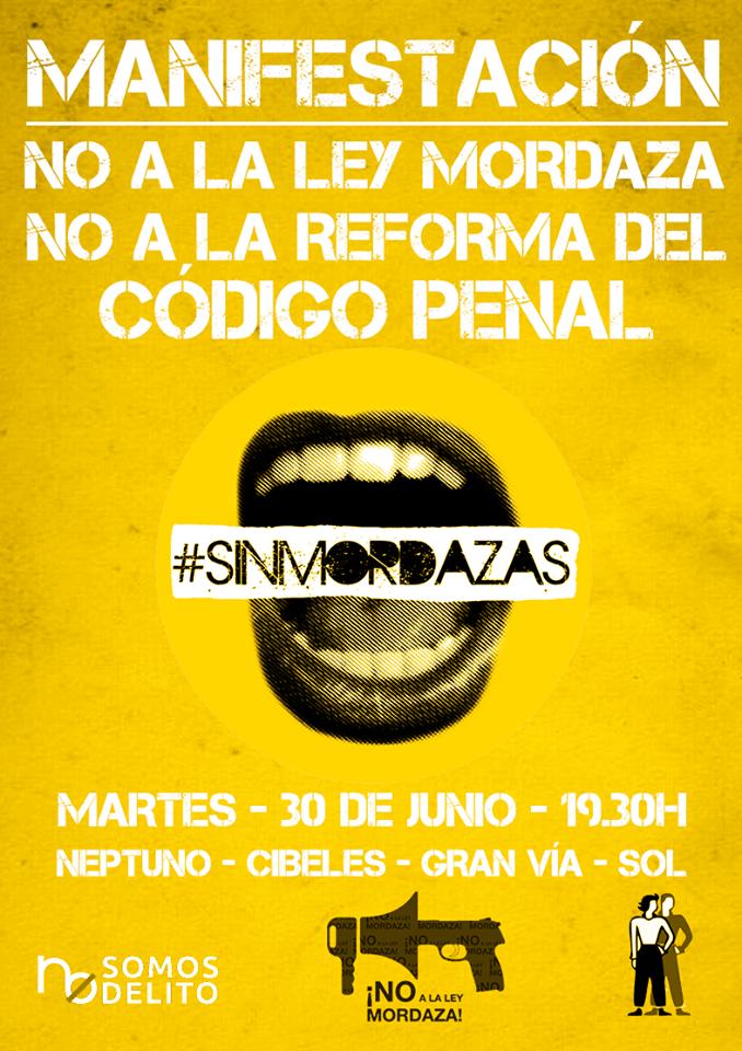 #SinMordazas contra la #LeyMordaza Convocatorias en toda España > http://t.co/35BR8LJHIl http://t.co/JpQtsp84NL