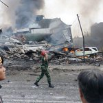 At least 5 killed as a military plane crashes in Indonesian city of Medan, officials say http://t.co/JlxRZWr3i4