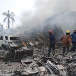 At least 45 now dead after military plane crash in in Medan, #Indonesia - http://t.co/ItnFNJY5Oa http://t.co/sa3kr21MIO
