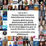 Dont forget to join us today at 1:00pmET for a Twitter chat on the #PrecisionMedicine Initiative using #PMINetwork! http://t.co/ej2d0YzSVf