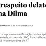 A Delação é um recurso útil no combate ao crime em geral.Dilma ao dizer que não apoia a Delação,está apoiando o crime http://t.co/w5pxzxqdHi