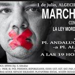 No se os ocurra faltar mañana en Algeciras, todos y todas de la mano contra la #LeyMordaza http://t.co/Vd2zi6xDBN