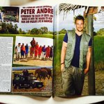 RT @alanstrutt: My pics of @MrPeterAndre in @hellomag today @BFFoundation @KenyaAirways @serenahotels