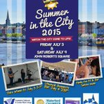 This weeks #SummerInTheCity line up @WaterfordCityCt with @WaterfordCounci & @waterfordcc #thecityisalive #Waterford http://t.co/pZNbmGxsZ7