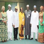 #HIGHLIGHT: INEC Chairman Prof. Jega with 6 National Commissioners to bow out of the Commission today June 30th. http://t.co/HuFJDpaH3T