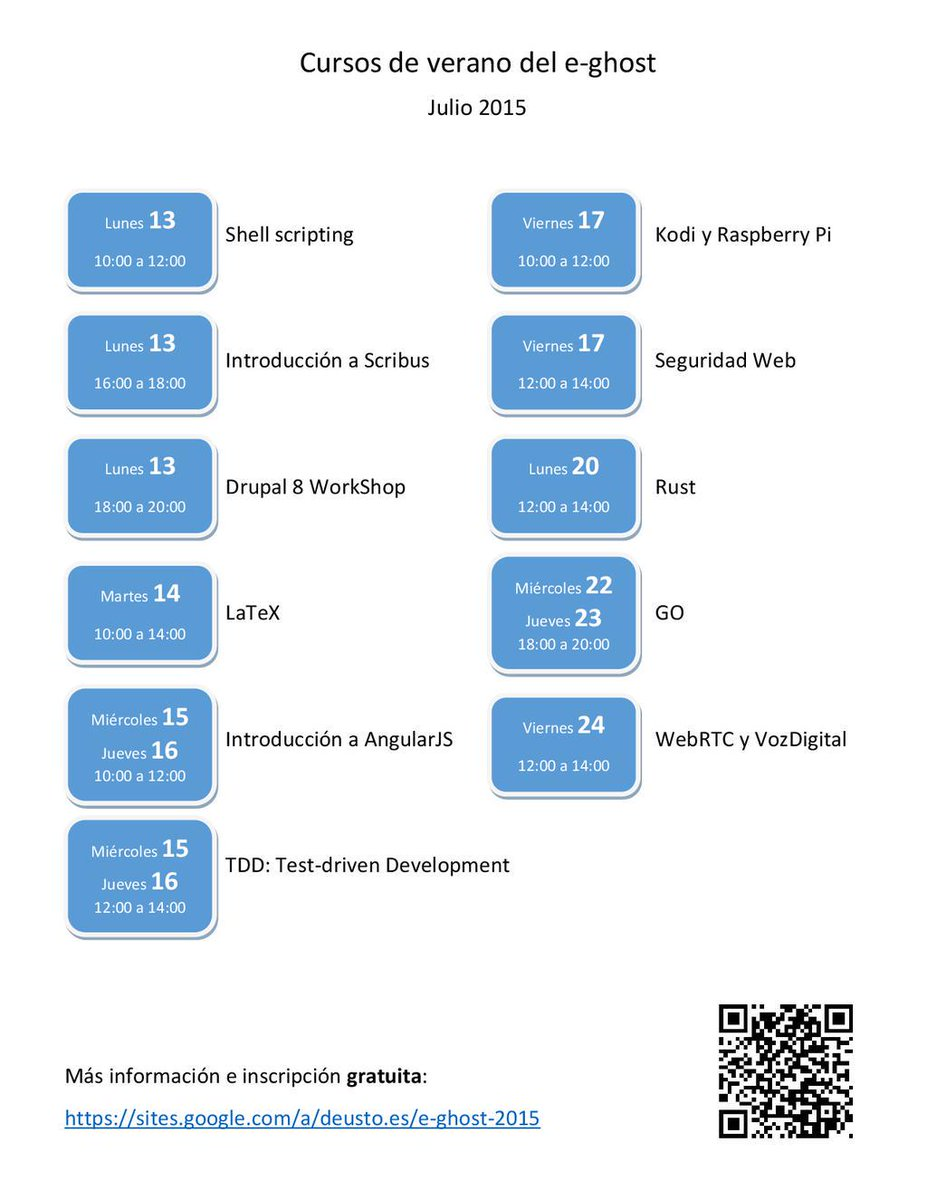No es verano hasta que llega el calor y los cursos de #SoftwareLibre del @egh0st https://t.co/mVhEFz4rew @IngDeusto http://t.co/09QFPVO9CT