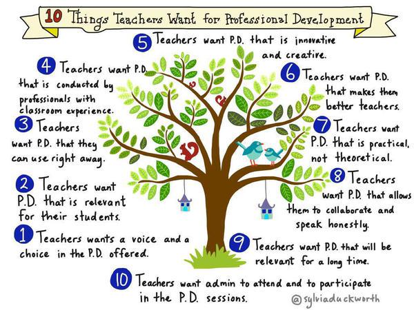 What would you add? MT @RoseAnn2TEACH: What do teachers want from PD? http://t.co/3bCUyR3fS6