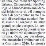"""""""Suécia vai jogar hoje contra meia equipa do Sporting"""", diz a Gazzetta dello Sport.""""Excelência absoluta"""", acrescenta. http://t.co/vmXVwruqUj"""