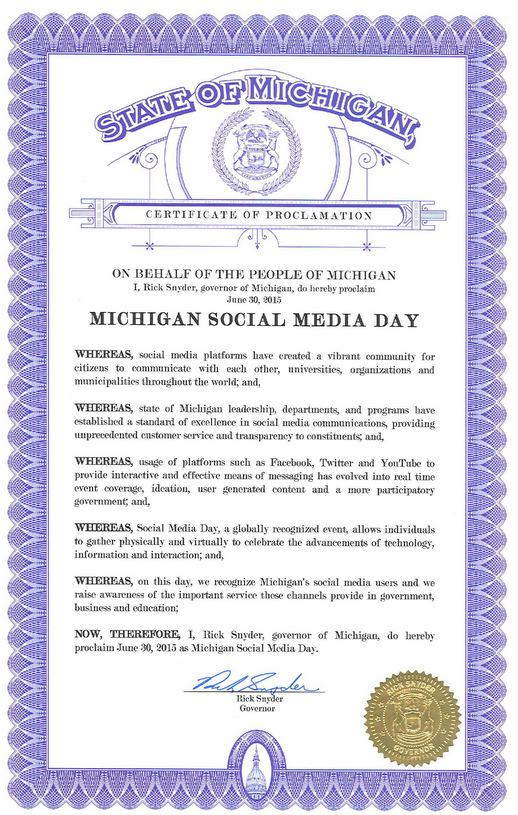 Happy Social Media Day! #SMDayMi Share who your favorite #PureMichigan business, college or org is to follow & why. http://t.co/7mG2E2CKg3