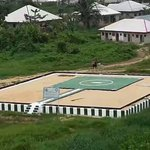 This is a helipad built by the FG for Jonathan behind community secondary school Otouke, but Buhari must not have one http://t.co/JKrK4EDtBY