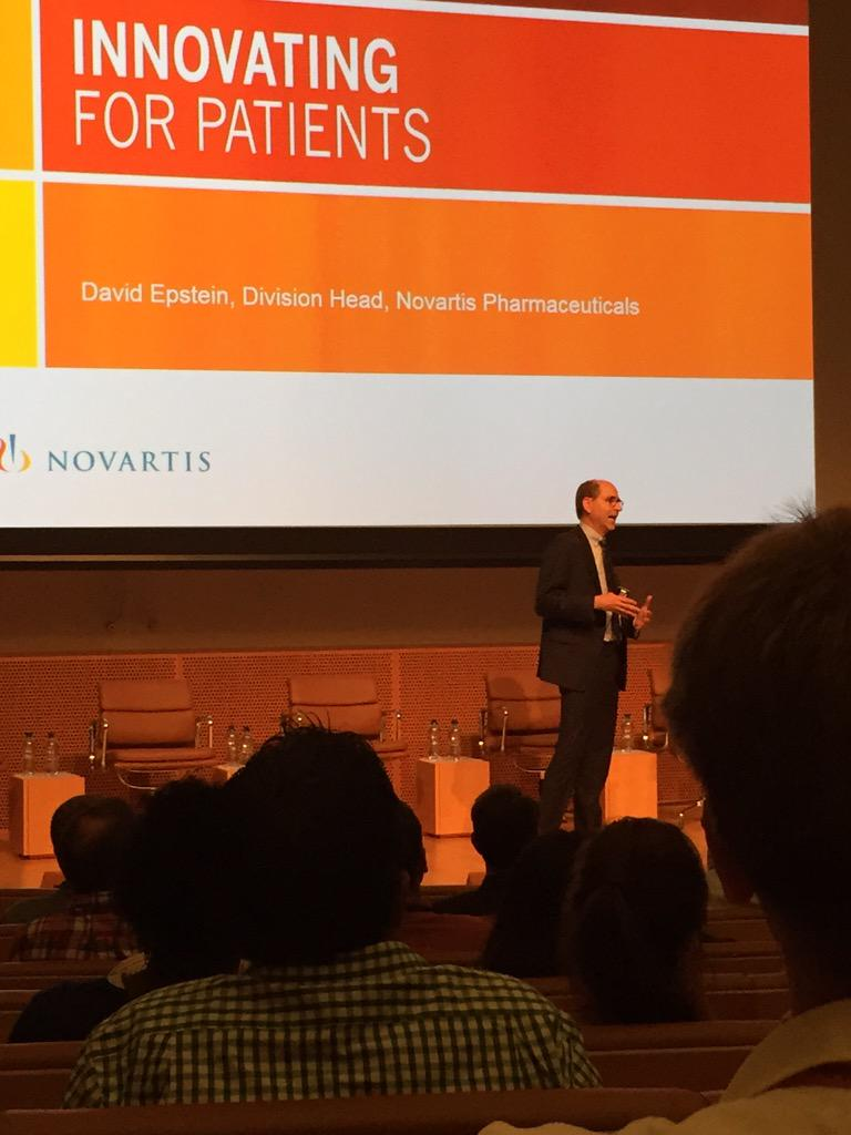 .@DavidEpsteinRX, Head of @NovartisPharma,  presents on how @Novartis works alongside patients. #4patients http://t.co/rPNuI5Vh1N