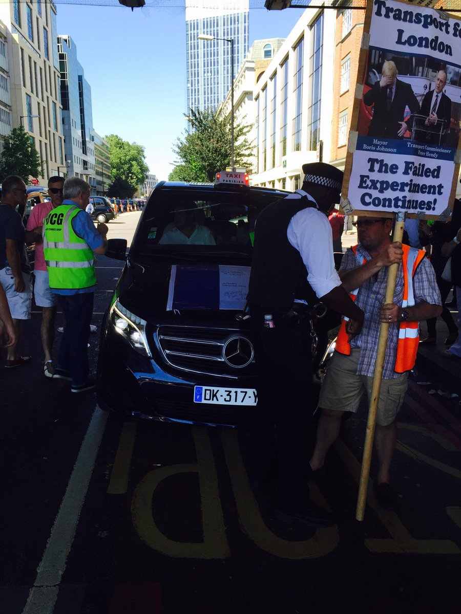 Paris supports the London taxi demo #tflfail http://t.co/R47JEHqqCB