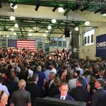 Yes, its getting hot in here. @chrischristie presidential launch event http://t.co/V56W1FcmFN