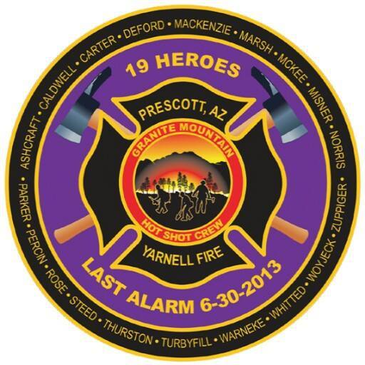 #neverforget the #fallen 19 Hotshots 2 years ago today. RIP http://t.co/rVmH9G4xk6