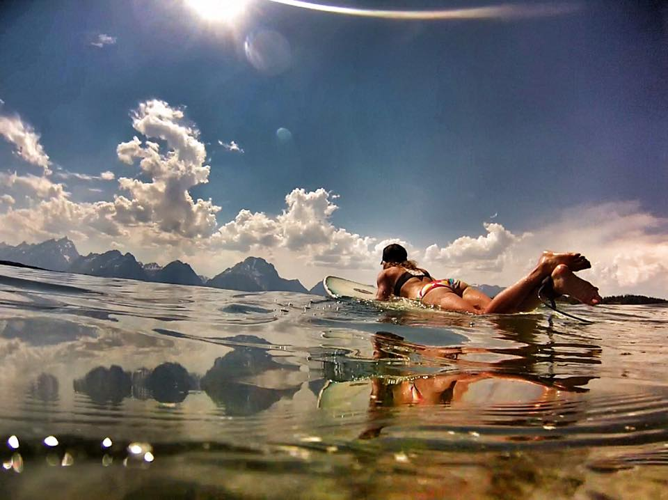 SNAPPED: @@kyehalpin chasing tiny waves on Jackson Lake http://t.co/tBXc5qoDc5 http://t.co/LS3fMRpKLM