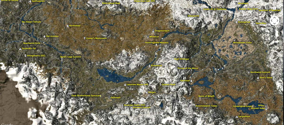 Heres a google earth style interactive map of skyrim in case you heres a google earth style interactive map of skyrim in case you need it gumiabroncs Choice Image