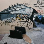 #Greece: Austerity street art (photo by Louisa Gouliamaki) http://t.co/GrQVV8HB9G