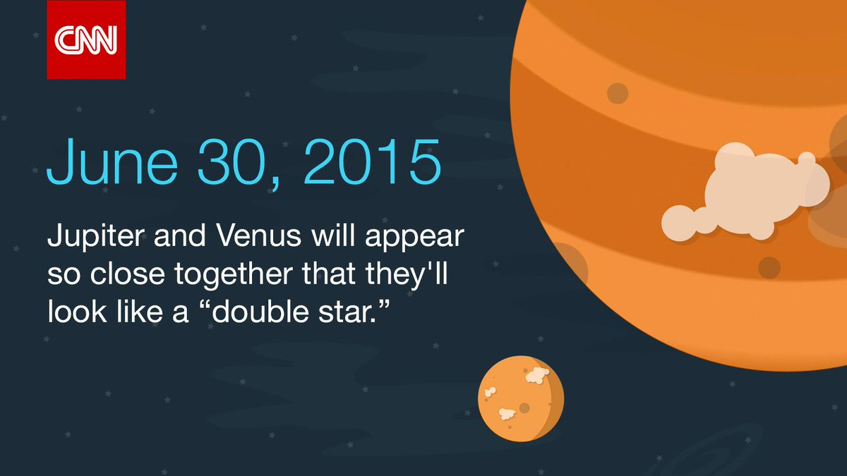 Be sure to look up tonight! Jupiter and Venus will appear one-third of a degree apart: http://t.co/VovAXd8sin