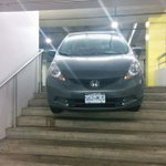 #Vancouver Police are on scene at Oakridge Mall after a car got stranded on a stairwell in the parkade. http://t.co/LMOIfIjnwM