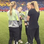 #USWNT have arrived at Olympic Stadium! Walking the field before warmups… #USAvGER http://t.co/Xm3ELRb3f9