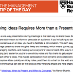 Our management tip of the day: Good ideas don't start with a presentation http://t.co/QgH1rIps9H