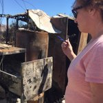Resident who had home destroyed by #SleepyHollowFire go through whats left- filing cabinet still hot.@KIRO7Seattle http://t.co/59uQlXVd7d