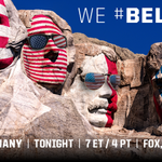 """America, we #Believe."" - George, Thomas, Teddy, Abe #OneNationOneTeam http://t.co/M5CiQmHzHg"